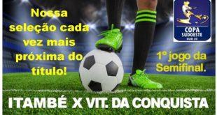 Itambé enfrenta Vitória da Conquista no 1º jogo da semifinal da Copa Sudoeste Sub 20