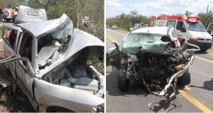 Desastre: Colisão frontal entre dois carros deixa seis mortos na Bahia