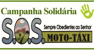 S.O.S. Motatáxi realiza campanha solidária de arrecadação de alimentos e agasalhos