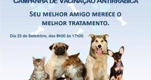 Itambé vai realizar neste sábado (23) o Dia D de Vacinação Antirrábica