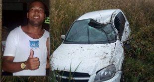 """Promotor de eventos """"Neto Bahia"""" capota carro na BA-263, entre Itambé e Conquista"""