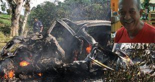 Professor morre carbonizado após carro capotar e pegar fogo na Bahia
