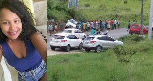 Mulher morre em grave acidente na BR-415, próximo a Ibicaraí