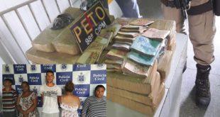 Mãe e filha adolescente são flagradas levando drogas para Ipirá