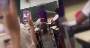 Vídeo: Vítima de  bullying, garoto autista tem cadeira chutada por colegas em sala de aula