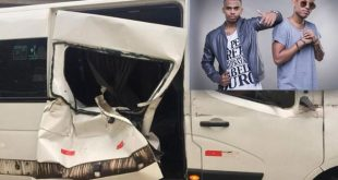 Susto: Van com a dupla Lucas e Orelha é atingida por carreta na Bahia