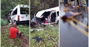 Tragédia: Batida entre van e carreta deixa 6 mortos no oeste da Bahia. Vídeo