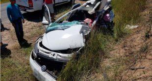 Homem morre e mulher grávida fica ferida em grave acidente em Prado