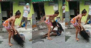 """Baixaria em Salvador: Mulheres brigam no meio da rua por causa de """"macho"""". Assista"""
