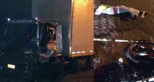 Morador de Planalto morre em grave colisão entre caminhão e moto na BR-116. Vídeo