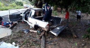 Bahia: Picape bate em árvore e deixa 2 mortos na BR-10. Imagens fortes
