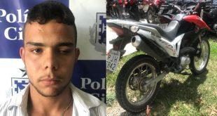 Roubou moto em Conquista, passou por Itambé e foi capturado em Itapetinga