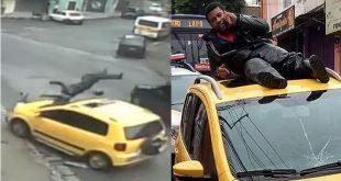 Incrível: Motoboy liga para pedir socorro do teto de carro que o atropelou. VÍDEO