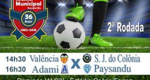 2ª rodada do Municipal terá Valência X São José do Colônia e ADAMI X Paysandu