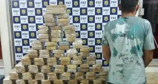 PRF apreende 100 kg de crack na BR-116, em Conquista