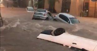 Vídeo:Temporal alaga vias e arrasta carros em tarde de caos em BH