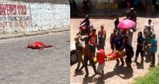 Vídeo: Com problemas de saúde homem tenta suicídio pulando da passarela na Bahia