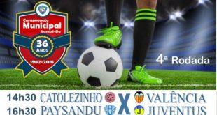 Campeonato Municipal segue neste domingo com Catolezinho x Valência e Paysandu x Juventus