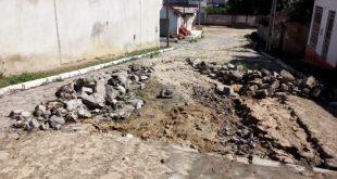Itambé: Ladeira interditada há mais de um mês não fica pronta por falta de cimento
