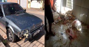 Carro desgovernado derruba parede de salão de beleza e atinge crianças de 5 e 10 anos na BA