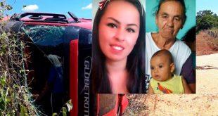 Mãe, filha e neto morrem em colisão com carreta em Riacho de Santana
