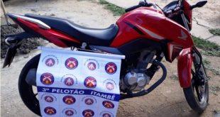 Polícia Militar recupera moto furtada em Itambé