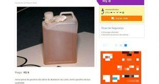 Com falta de combustíveis em postos na Bahia, anunciantes vendem gasolina na internet