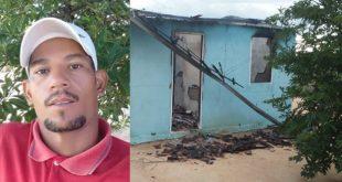 Bahia: Homem surta, agride esposa, ateia fogo na casa, carro, moto e comete suicídio
