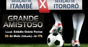 Seleção de Itambé vai enfrentar Itororó em amistoso preparatório para o Intermunicipal 2018