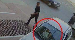 Mulher resgata bebê de carro durante assalto; imagens impressionam