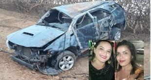 Após saírem de festa junina, amigas morrem em grave acidente em estrada vicinal de Belo Campo