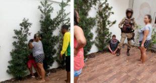 PERDEU LADRÃO: Mulher domina ladrão até a chegada da polícia em Guanambi. Vídeo