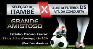 Seleção de Itambé segue preparação para o intermunicipal com a disputa de mais um amistoso