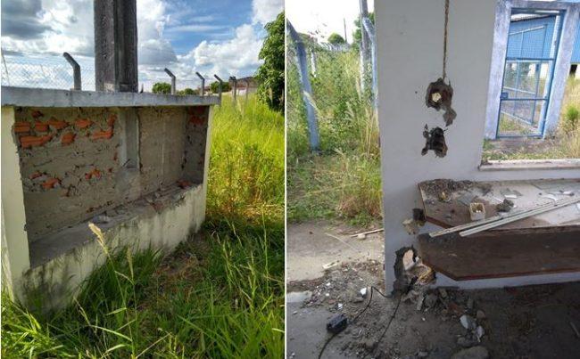 d5ec8c56b ... (SSP) está investigando os atos de vandalismos e roubo de equipamentos  no galpão do governo